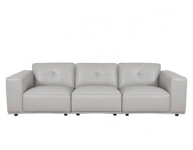 Acadian Leather Sofa