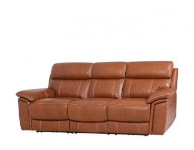 Auklet Leather Power Reclining Sofa With Adjustable Power Headrest