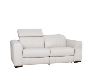 Bain Leather Power Reclining Sofa With Power Adjustable Headrest