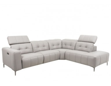 Coral Bell Power Reclining Leather Sectional