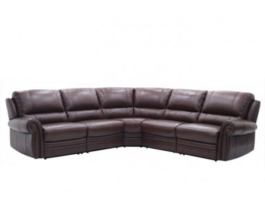 Eider Leather Power Reclining Sectional
