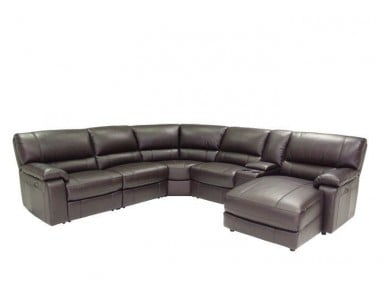 Godwit Leather Power Reclining Sectional