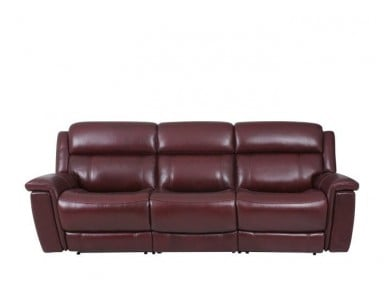 Grebe Power Reclining Leather Sofa With Adjustable Power Headrest