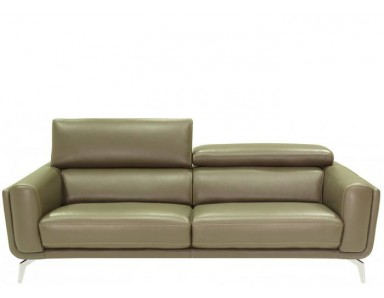 Sandpiper Leather Sofa & Set With Adjustable Headrest