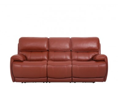 Scaup Power Reclining Leather Sofa With Adjustable Power Headrest
