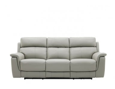 Wren Power Reclining Leather Sofa With Adjustable Power Headrest