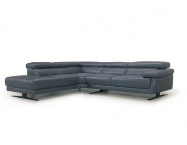 Bayberry Leather Sectional | Adjustable Headrest