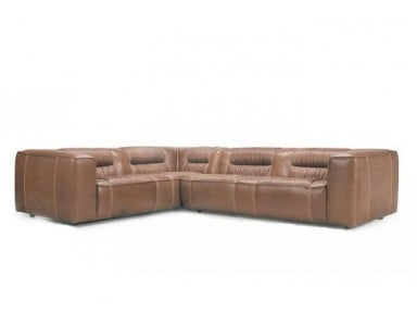 Perugia Leather Sectional