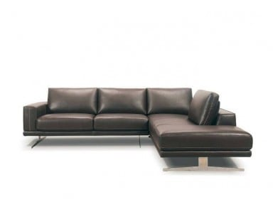 Raven Leather Sectional
