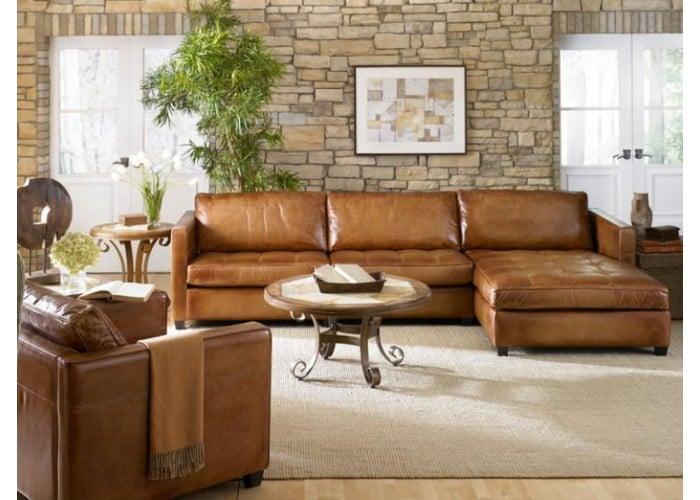 Wilmington Leather Sectional & Sofa Set