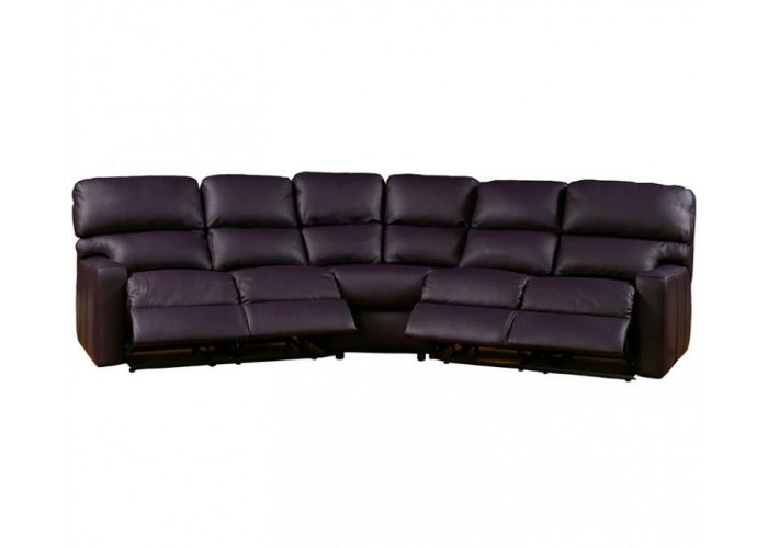 Laser Leather Reclining Sofa Set