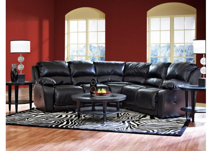 Leather reclining sectional leather reclining sectional for Ashley encore grain chaise