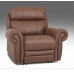 Recon Leather Reclining Sectional With Power Headrests