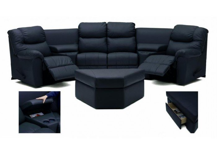 Staris Leather Reclining Sectional