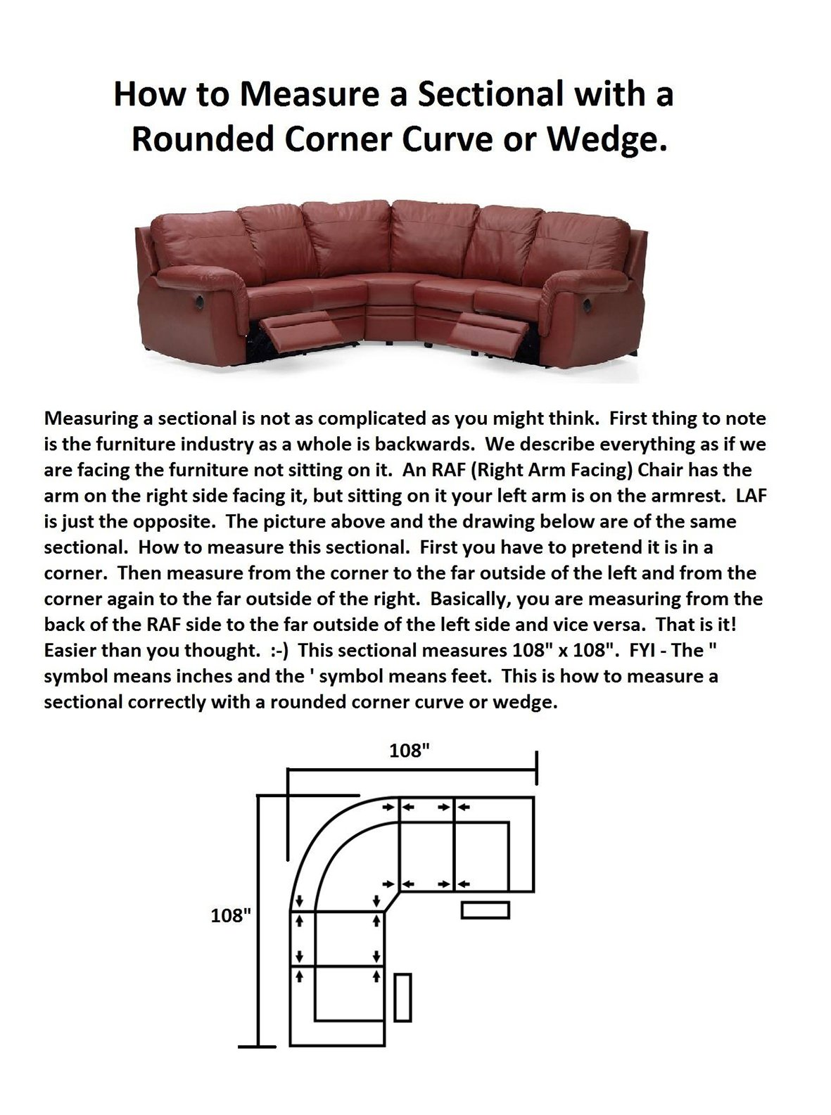 Another Way To Explain Is To Imagine You Are Building A Box Around The  Furniture; Those Are The Dimensions We Provide.